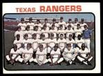1973 Topps #7   Rangers Team Front Thumbnail