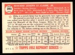 1952 Topps REPRINT #393  Ebba St.Claire  Back Thumbnail