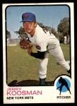 1973 Topps #184  Jerry Koosman  Front Thumbnail