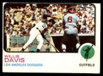 1973 Topps #35  Willie Davis  Front Thumbnail