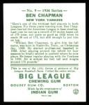 1934 Goudey Reprint #9  Ben Chapman  Back Thumbnail