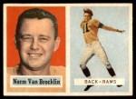 1957 Topps #22  Norm Van Brocklin  Front Thumbnail
