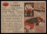 1957 Topps #125  Jerry Tubbs  Back Thumbnail
