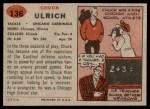 1957 Topps #136  Chuck Ulrich  Back Thumbnail
