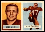 1957 Topps #134  Dick James  Front Thumbnail