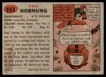 1957 Topps #151  Paul Hornung  Back Thumbnail
