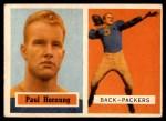 1957 Topps #151  Paul Hornung  Front Thumbnail