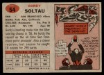 1957 Topps #54  Gordon Soltau  Back Thumbnail