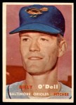 1957 Topps #316  Billy O'Dell  Front Thumbnail