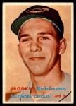 1957 Topps #328  Brooks Robinson  Front Thumbnail