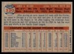 1957 Topps #330  Jim Wilson  Back Thumbnail