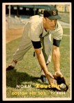 1957 Topps #372  Norm Zauchin  Front Thumbnail
