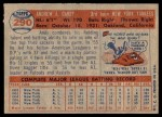 1957 Topps #290  Andy Carey  Back Thumbnail