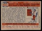 1957 Topps #403  Dick Hyde  Back Thumbnail