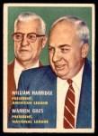 1957 Topps #100  Warren Giles / William Harridge  Front Thumbnail