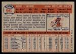 1957 Topps #96  Hank Aguirre  Back Thumbnail