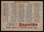 1957 Topps BAZ  Bazooka Checklist - Series 1 & 2 Back Thumbnail