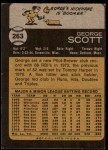 1973 Topps #263  George Scott  Back Thumbnail