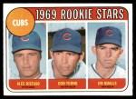 1969 Topps #602 VIS  -  Alec Distaso / Don Young / Jim Qualls Cubs Rookies Front Thumbnail