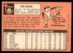 1969 Topps #535  Phil Regan  Back Thumbnail