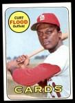 1969 Topps #540   -  Curt Flood    Front Thumbnail