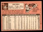 1969 Topps #122  Ron Fairly  Back Thumbnail