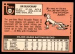 1969 Topps #613  Jim Beauchamp  Back Thumbnail