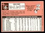 1969 Topps #469  Chico Ruiz  Back Thumbnail