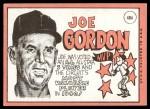 1969 Topps #484  Joe Gordon  Back Thumbnail