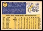 1970 Topps #177  Jim Northrup  Back Thumbnail