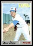 1970 Topps #476  Don Shaw  Front Thumbnail