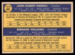 1970 Topps #401   -  Bernie Williams / John Harrell Giants Rookies Back Thumbnail