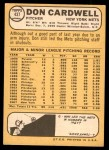 1968 Topps #437  Don Cardwell  Back Thumbnail