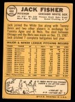1968 Topps #444  Jack Fisher  Back Thumbnail