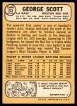 1968 Topps #233  George Scott  Back Thumbnail
