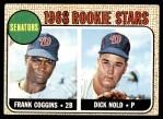 1968 Topps #96   -  Frank Coggins / Dick Nold Senators Rookies Front Thumbnail