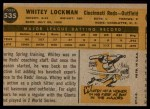 1960 Topps #535  Whitey Lockman  Back Thumbnail