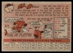 1958 Topps #381  Hal Brown  Back Thumbnail