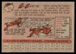 1958 Topps #382  Al Cicotte  Back Thumbnail