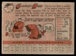1958 Topps #376  Charley Rabe  Back Thumbnail