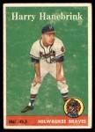 1958 Topps #454  Harry Hanebrink  Front Thumbnail
