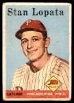 1958 Topps #353  Stan Lopata  Front Thumbnail