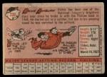 1958 Topps #230  Richie Ashburn  Back Thumbnail