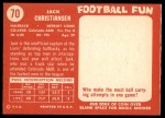 1958 Topps #70  Jack Christiansen  Back Thumbnail