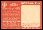 1958 Topps #95  Billy Wilson  Back Thumbnail