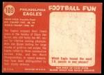 1958 Topps #109   Eagles Team Back Thumbnail