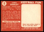 1958 Topps #8  James Dooley  Back Thumbnail
