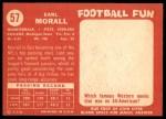 1958 Topps #57  Earl Morrall  Back Thumbnail
