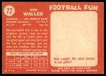 1958 Topps #72  Ron Waller  Back Thumbnail