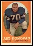 1958 Topps #106  Art Donovan  Front Thumbnail